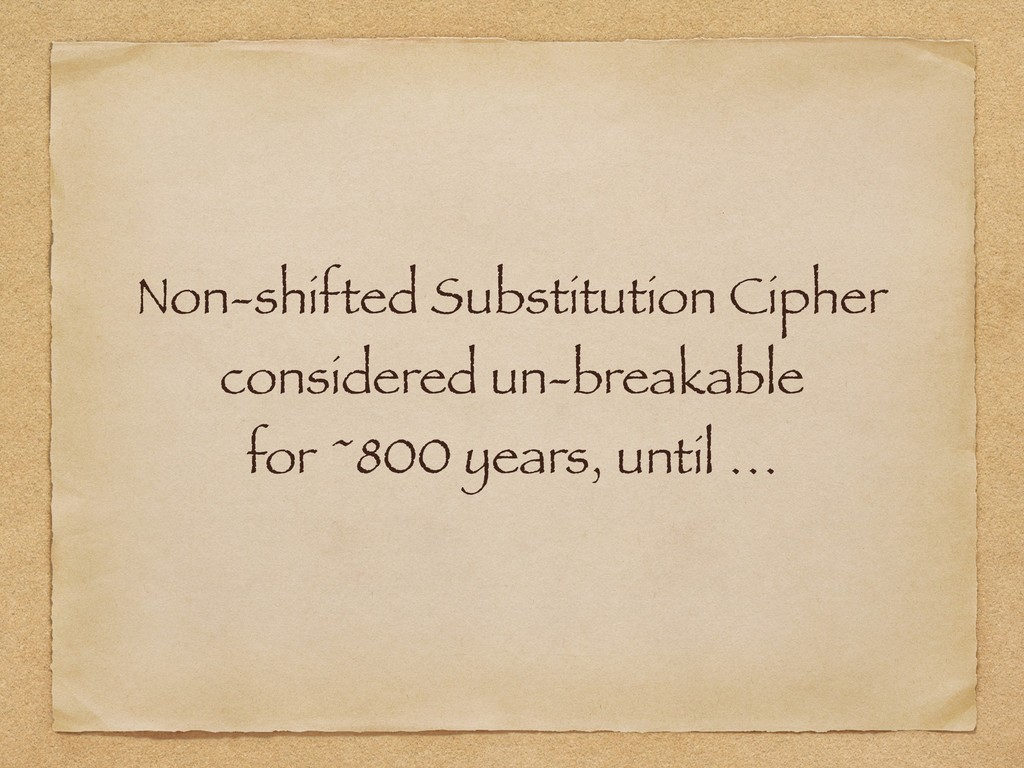 Non-shifted Substitution Cipher considered un-b...