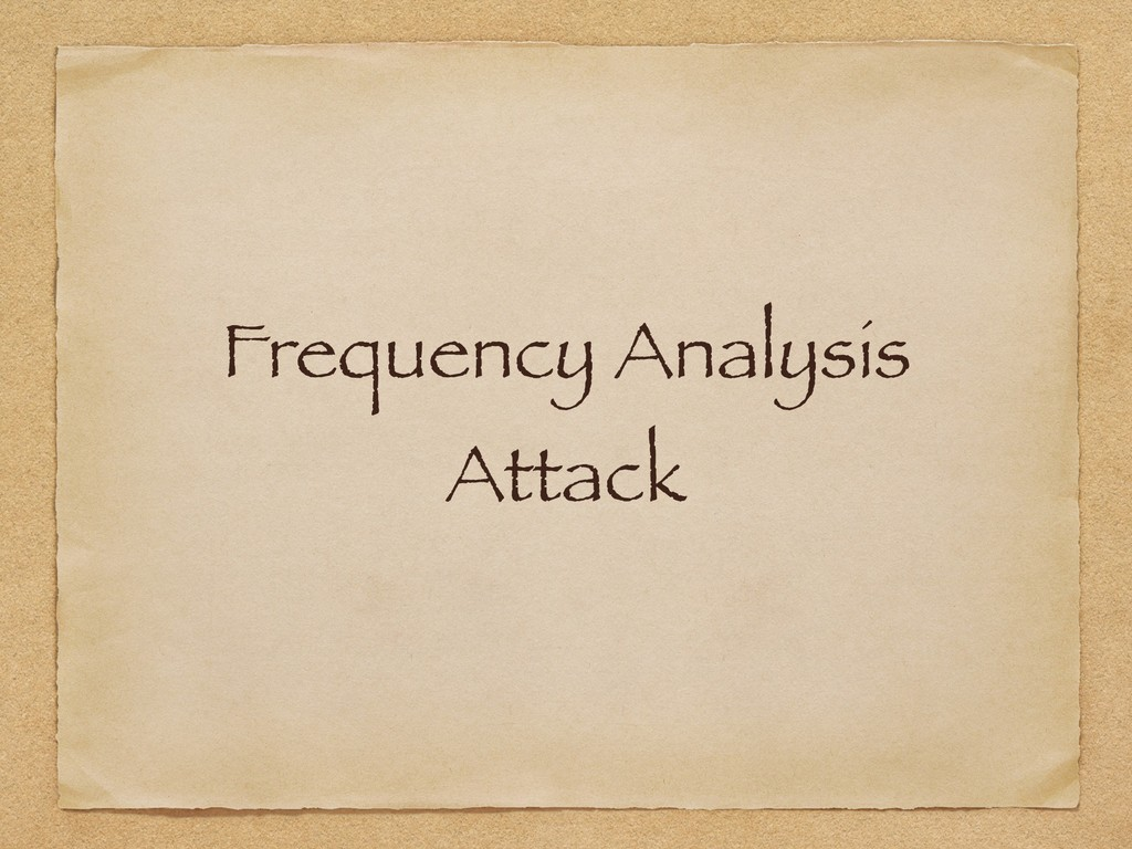 Frequency Analysis Attack