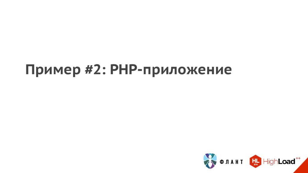 Пример #2: PHP-приложение