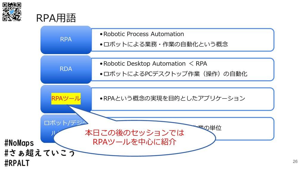 #NoMaps #さぁ超えていこう #RPALT 26 •Robotic Process Au...