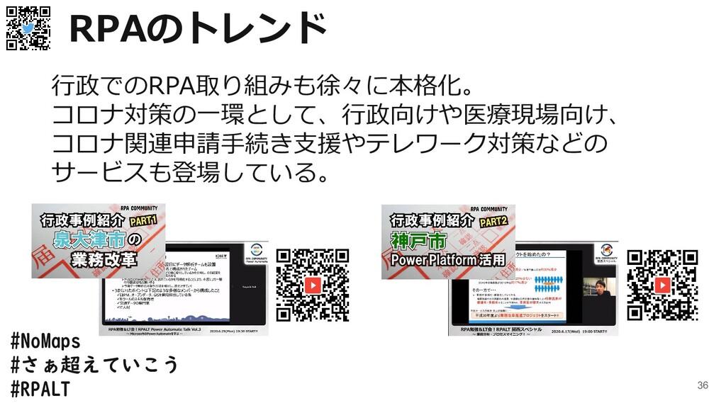 #NoMaps #さぁ超えていこう #RPALT 36 RPAのトレンド 行政でのRPA取り組...