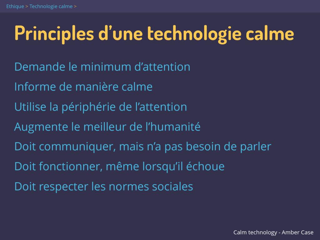 Principles d'une technologie calme Demande le m...