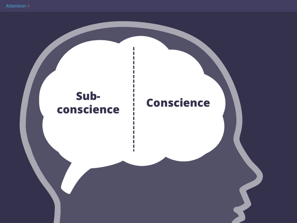 Sub- conscience Conscience Attention >