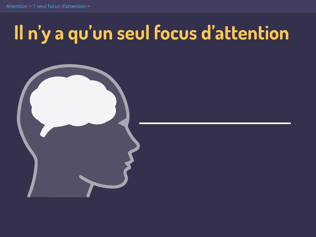 Il n'y a qu'un seul focus d'attention Attention...