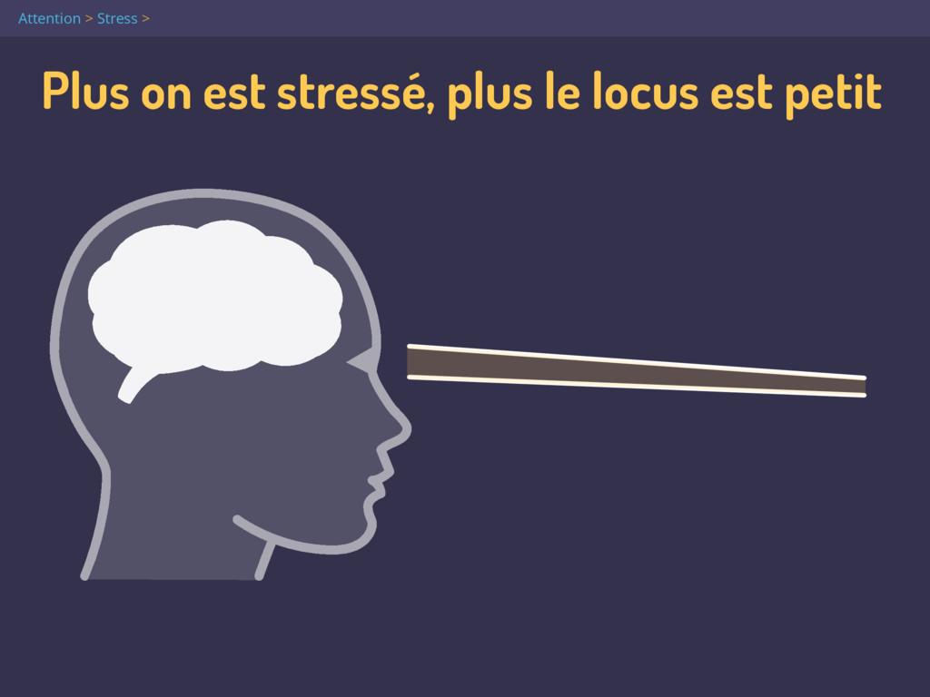 Plus on est stressé, plus le locus est petit At...