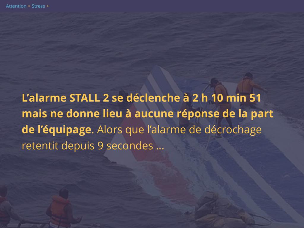 Attention > Stress > L'alarme STALL 2 se déclen...