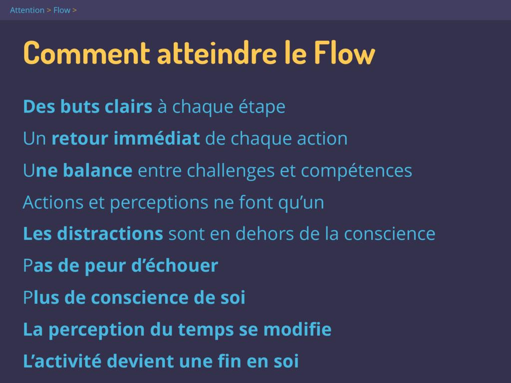 Comment atteindre le Flow Des buts clairs à cha...