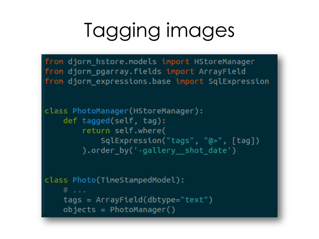 Tagging images
