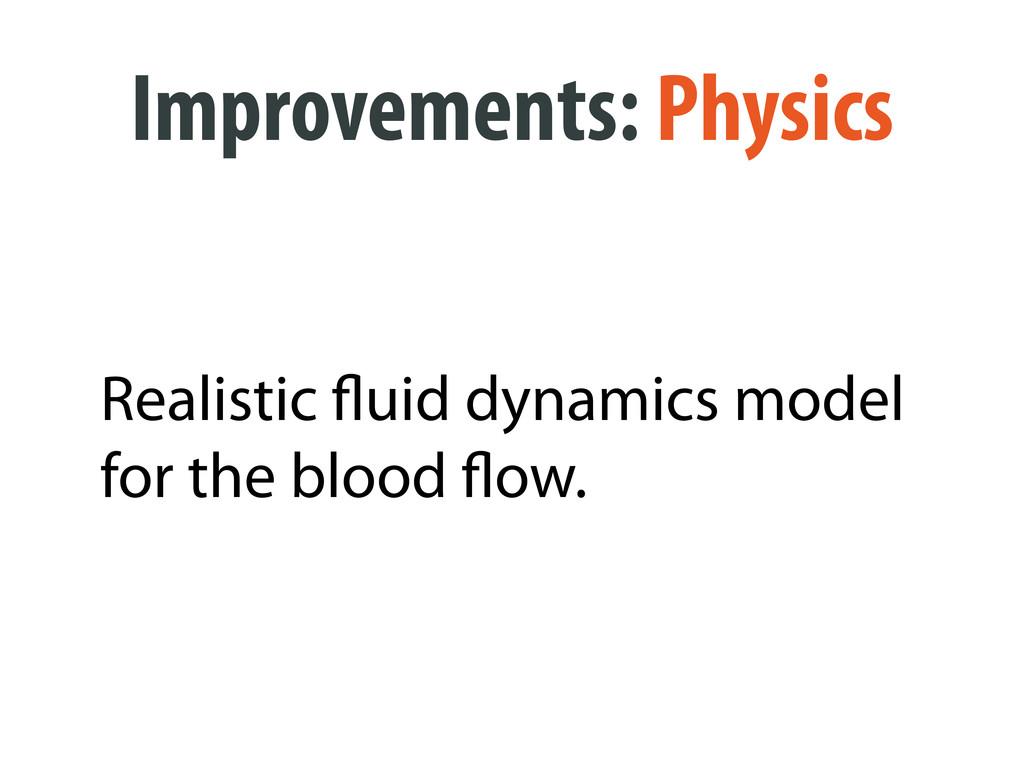 Improvements: Physics Realistic uid dynamics mo...