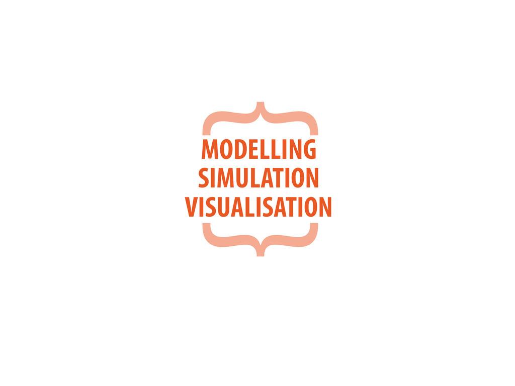 { } MODELLING SIMULATION VISUALISATION