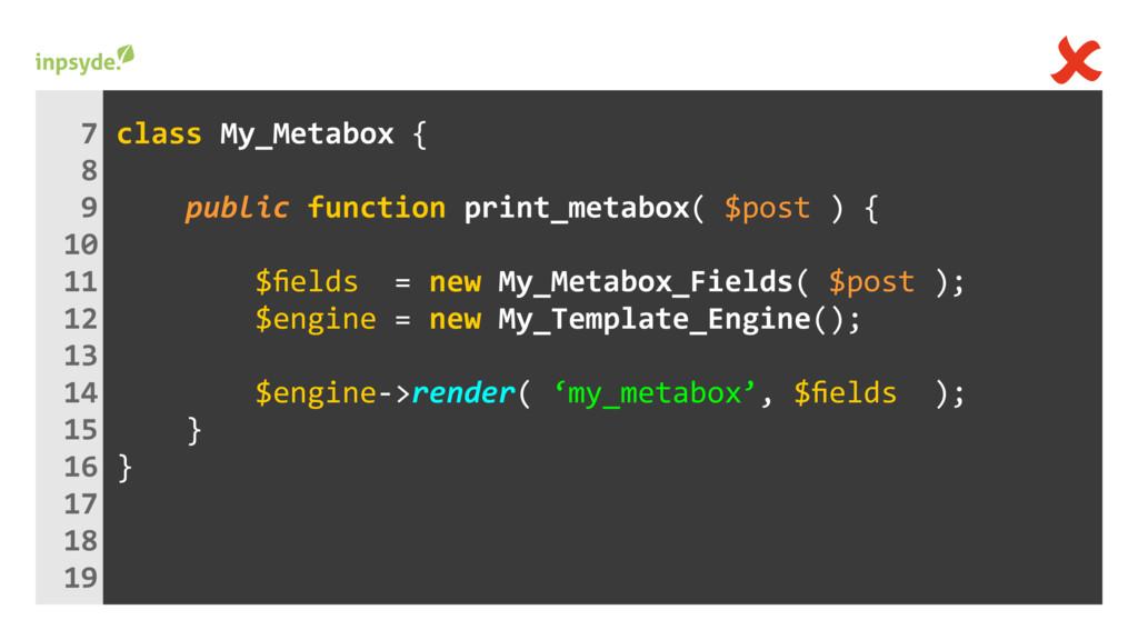 class My_Metabox { print_metabox( ) { public $p...