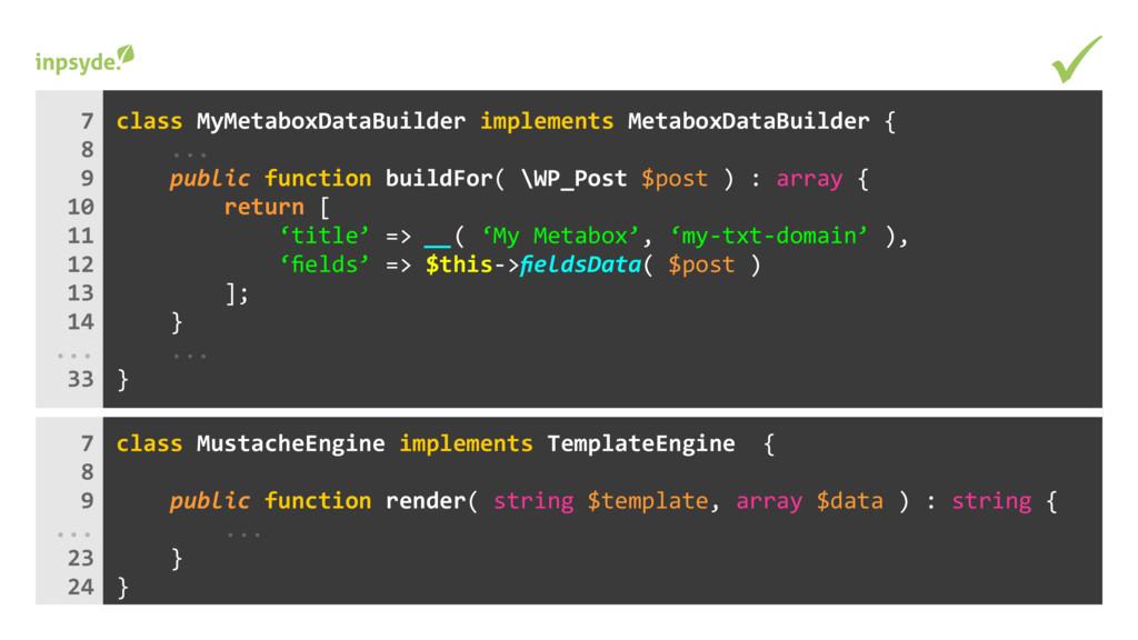 class implements MyMetaboxDataBuilder MetaboxDa...