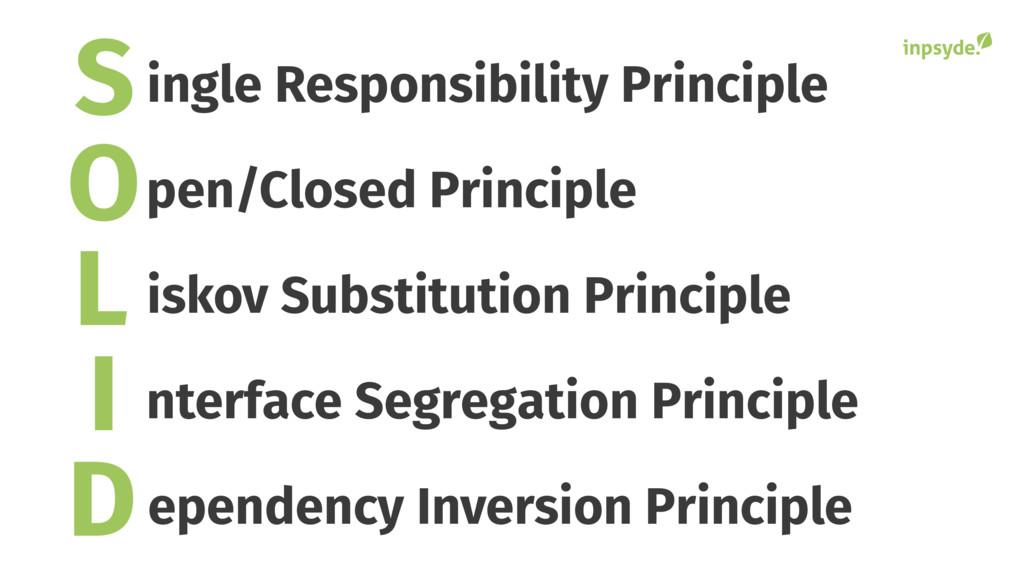S O L I D ingle Responsibility Principle pen/Cl...