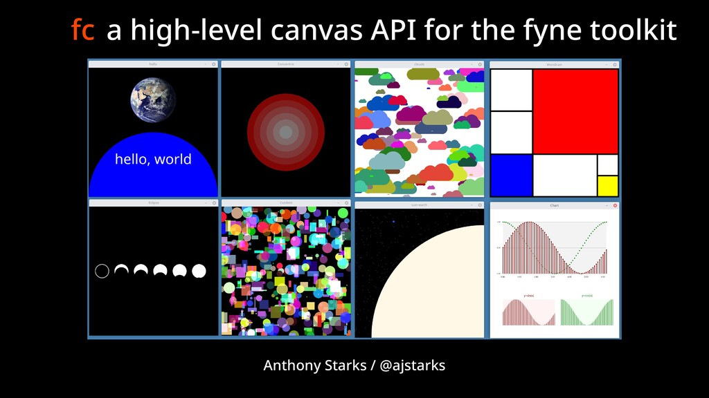 fc a high-level canvas API for the fyne toolkit...