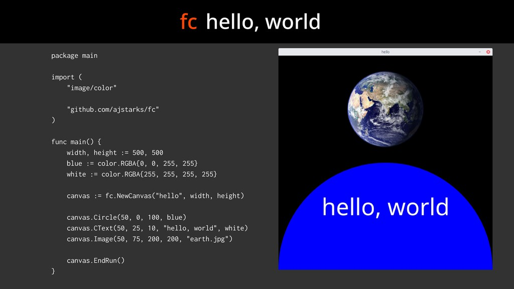 "fc hello, world package main import ( ""image/co..."
