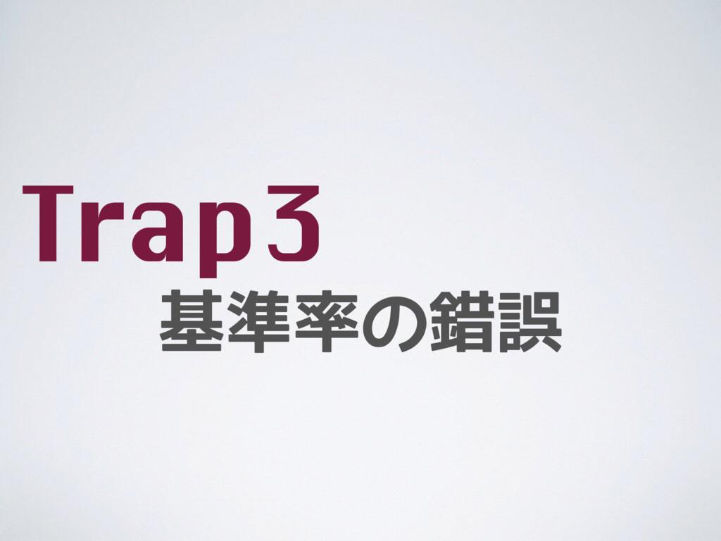 基準率の錯誤 Trap3