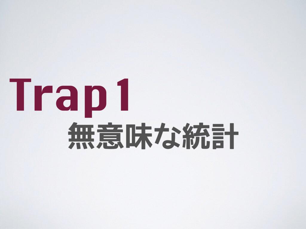 無意味な統計 Trap1