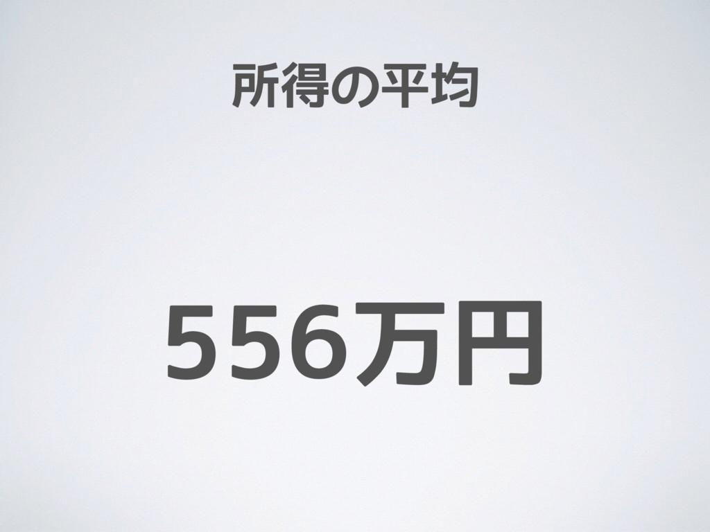 所得の平均 556万円