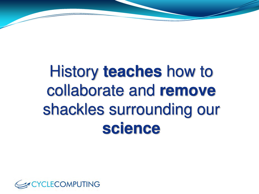 History teaches how to collaborate and remove s...