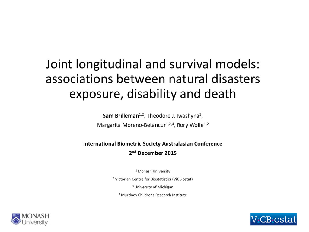 Joint longitudinal and survival models: associa...