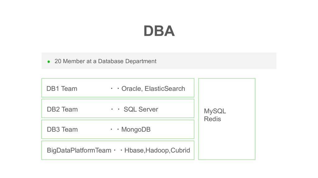 l 20 Member at a Database Department DBA DB1 Te...