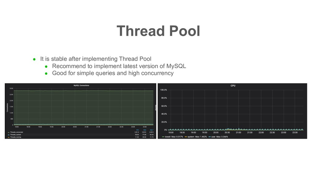 Thread Pool l It is stable after implementing T...