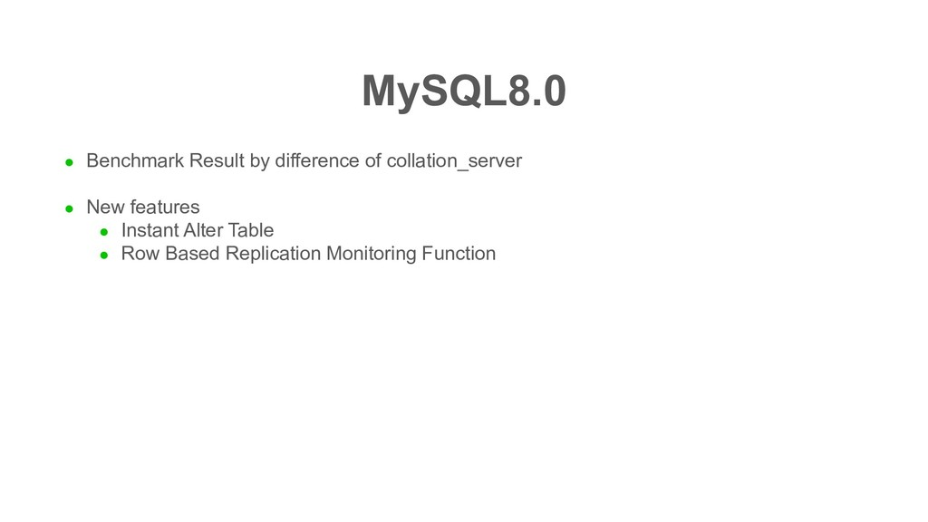 MySQL8.0 l Benchmark Result by difference of co...