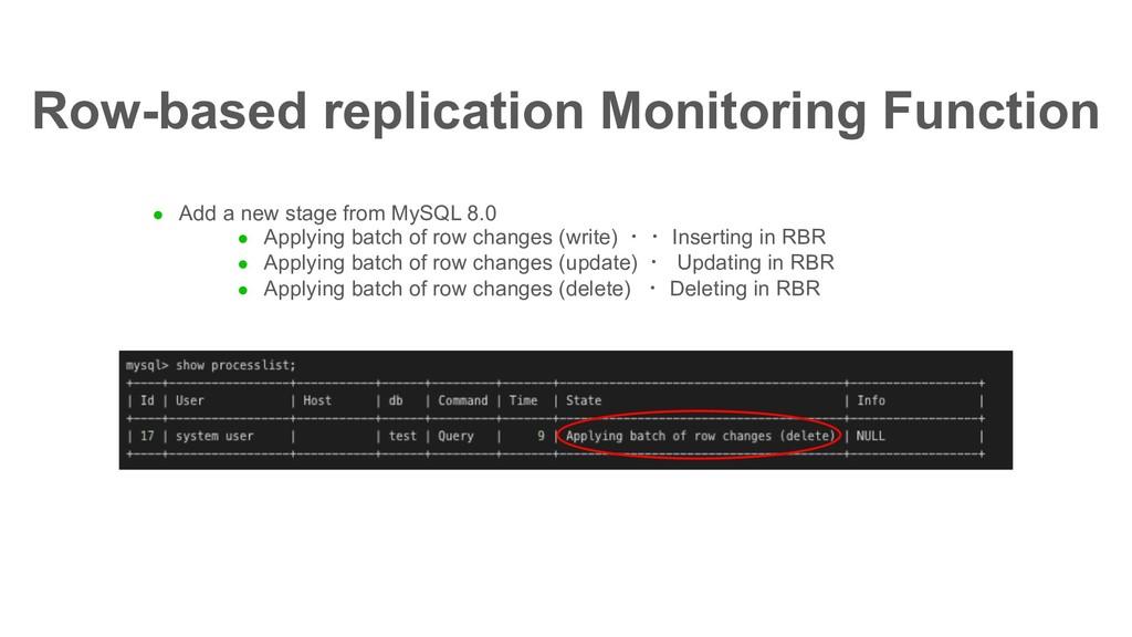 l Add a new stage from MySQL 8.0 l Applying bat...