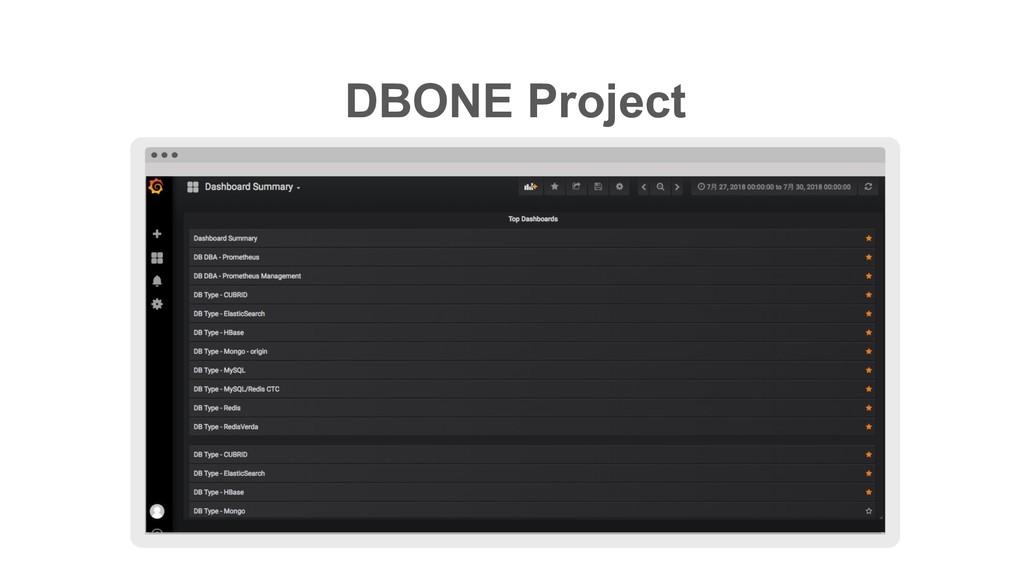 ≈ DBONE Project