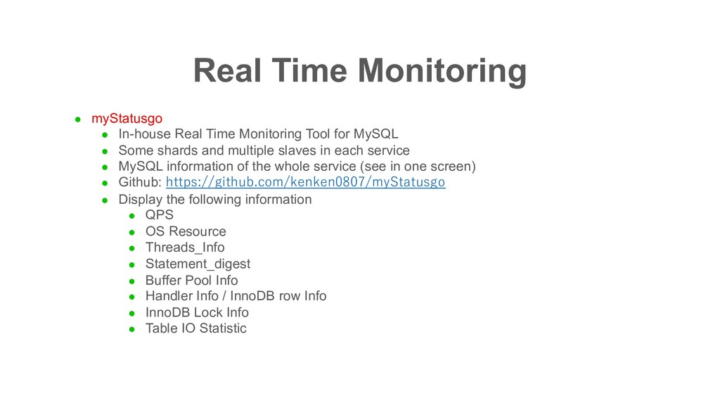 Real Time Monitoring l myStatusgo l In-house Re...