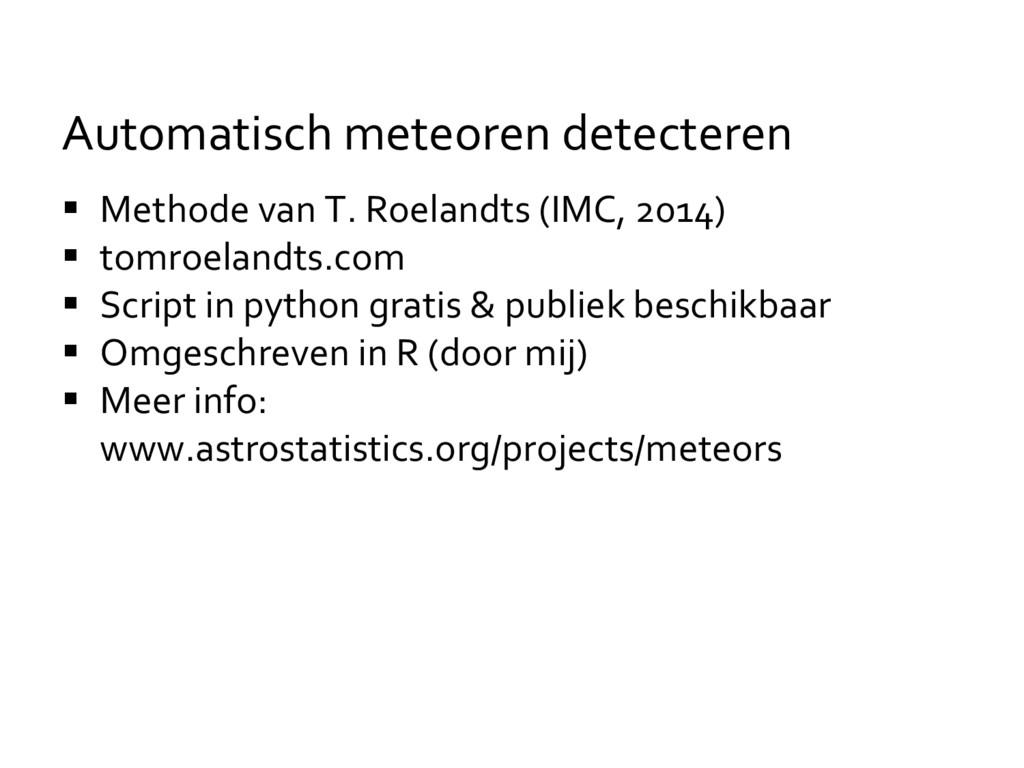 Methode van T. Roelandts (IMC, 2014)  tomroe...