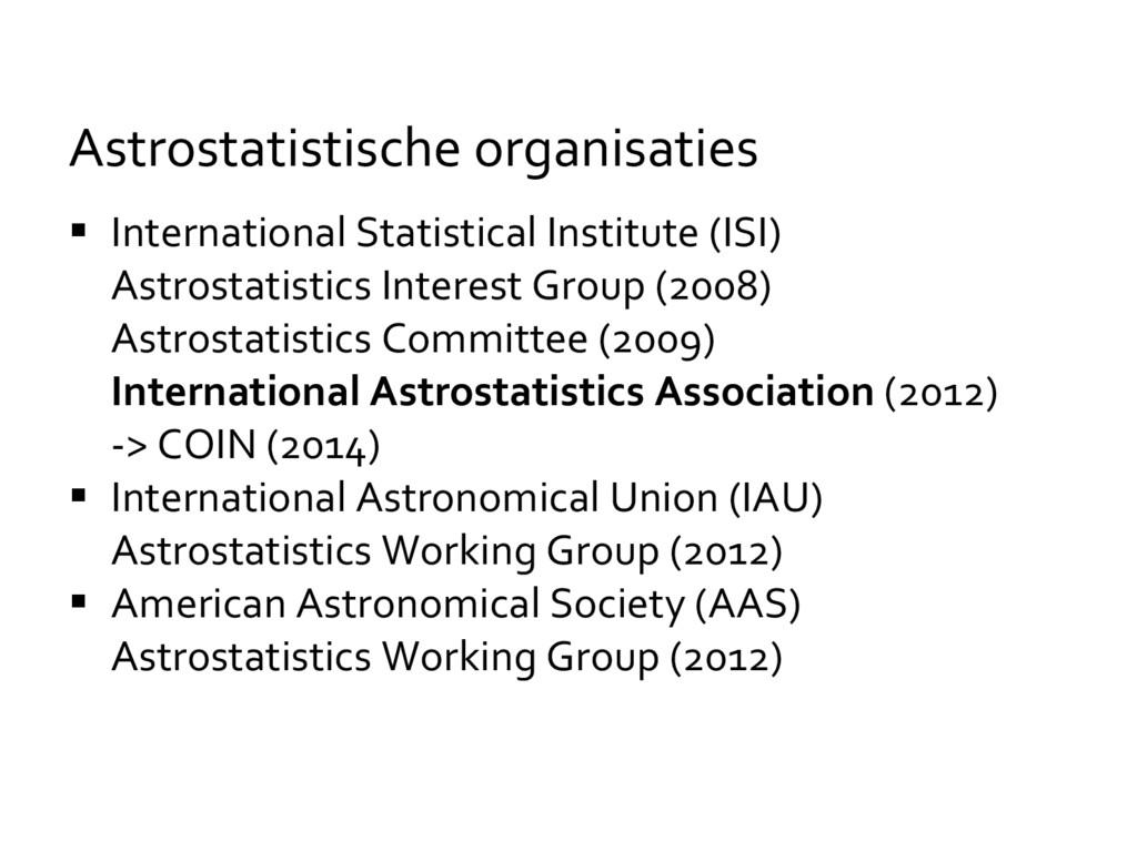  International Statistical Institute (ISI) Ast...