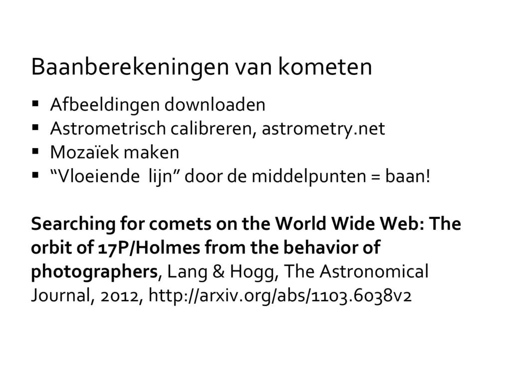  Afbeeldingen downloaden  Astrometrisch calib...