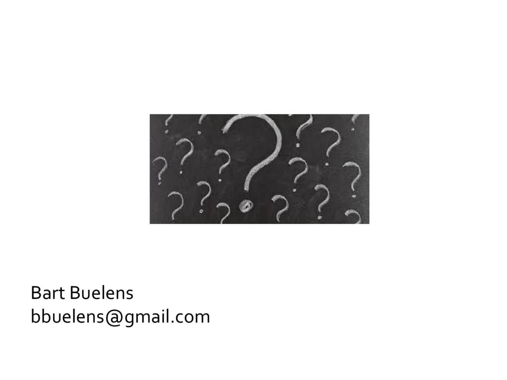 Bart Buelens bbuelens@gmail.com