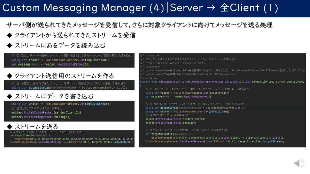 Custom Messaging Manager (4) Server → 全Client (...