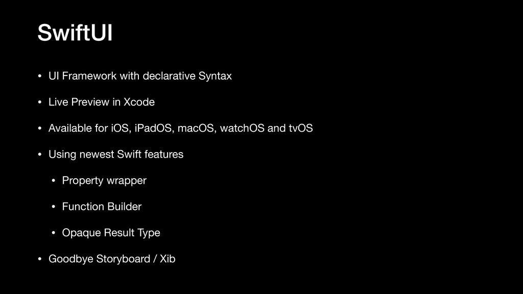SwiftUI • UI Framework with declarative Syntax ...