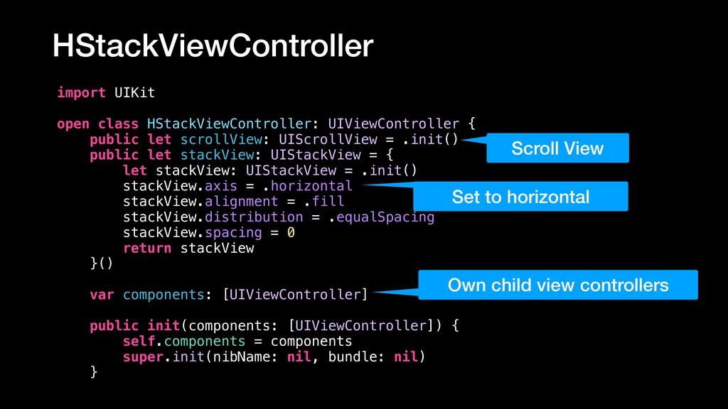 HStackViewController import UIKit open class HS...