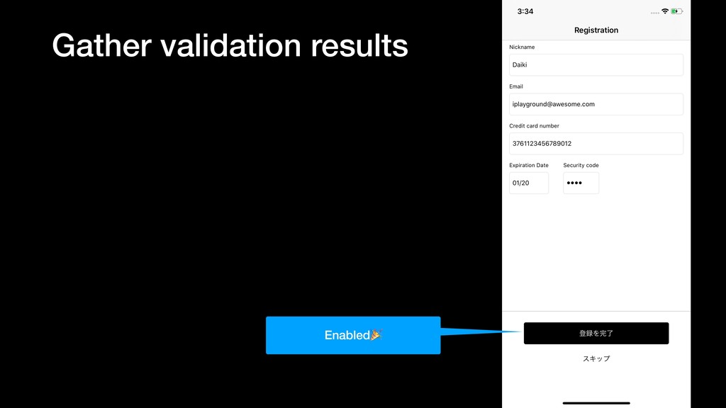 Gather validation results Enabled