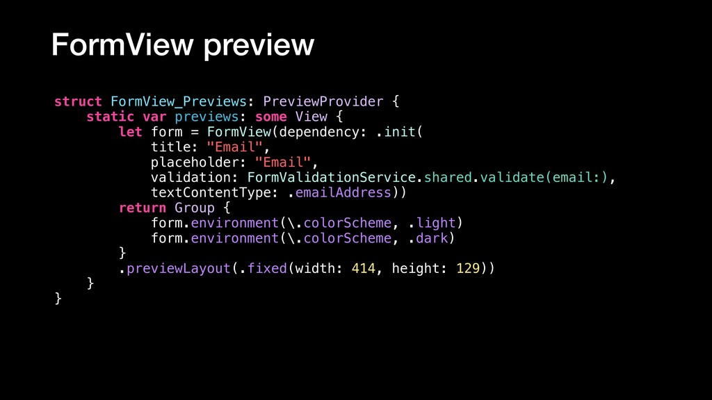 FormView preview struct FormView_Previews: Prev...