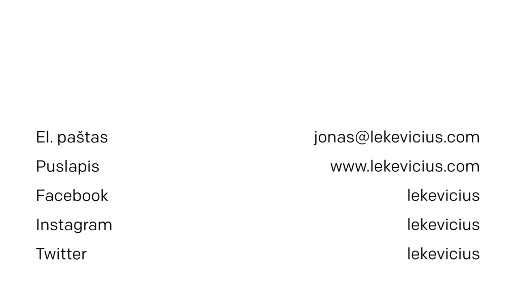 jonas@lekevicius.com www.lekevicius.com lekevic...