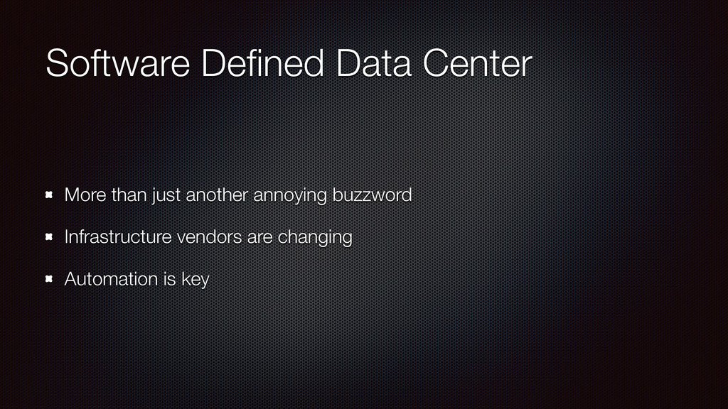 Software Defined Data Center More than just anot...
