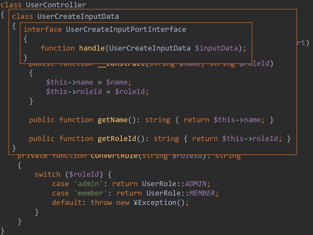 198 class UserController { private $inputPort; ...