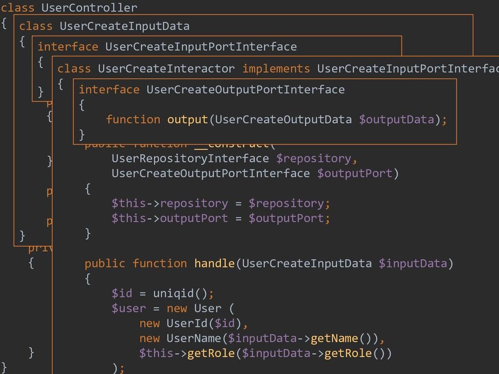 200 class UserController { private $inputPort; ...