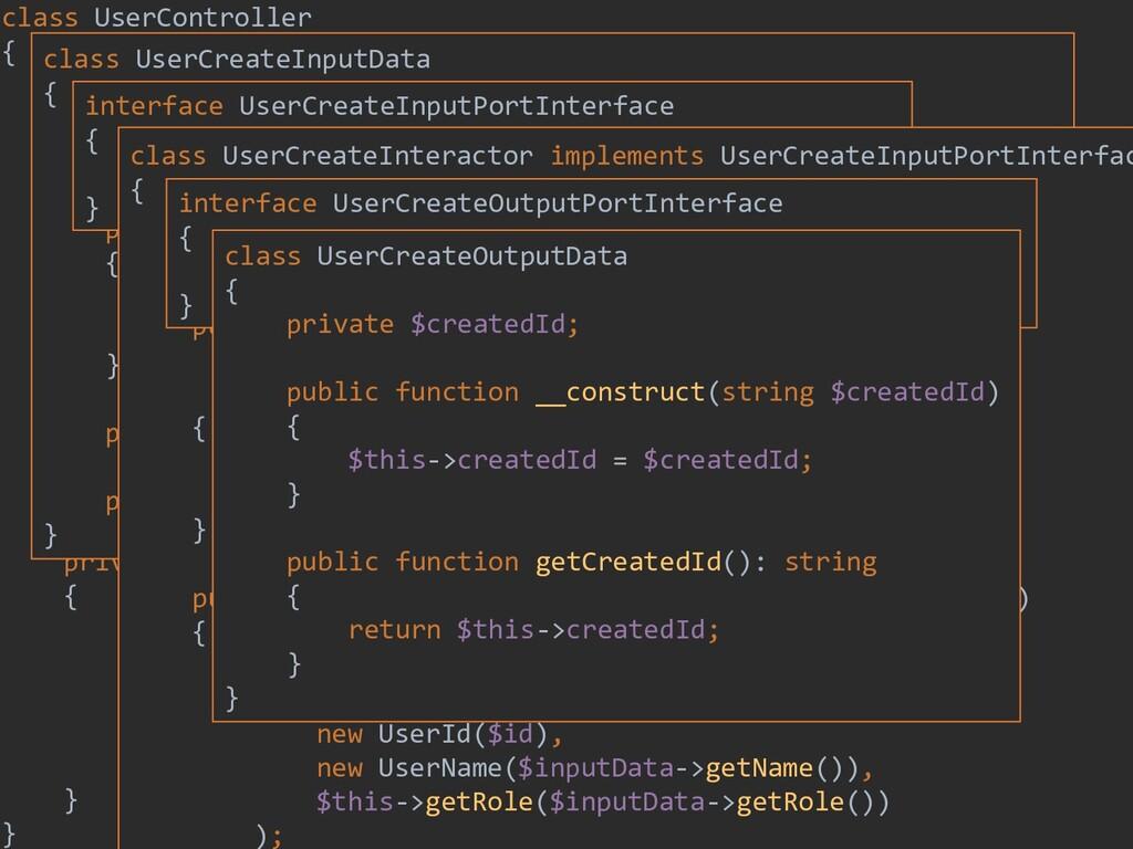 201 class UserController { private $inputPort; ...