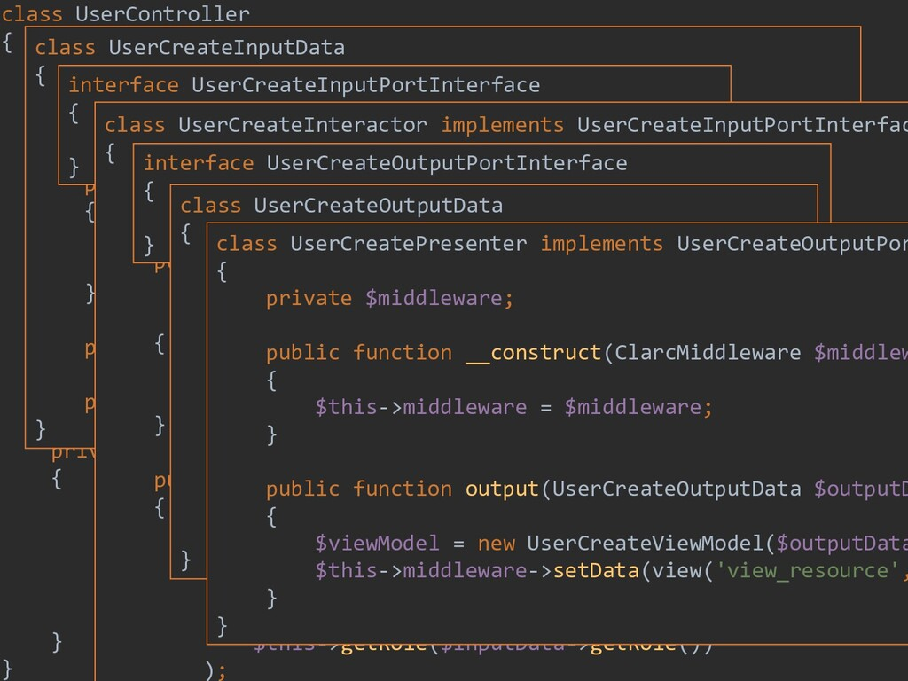 202 class UserController { private $inputPort; ...