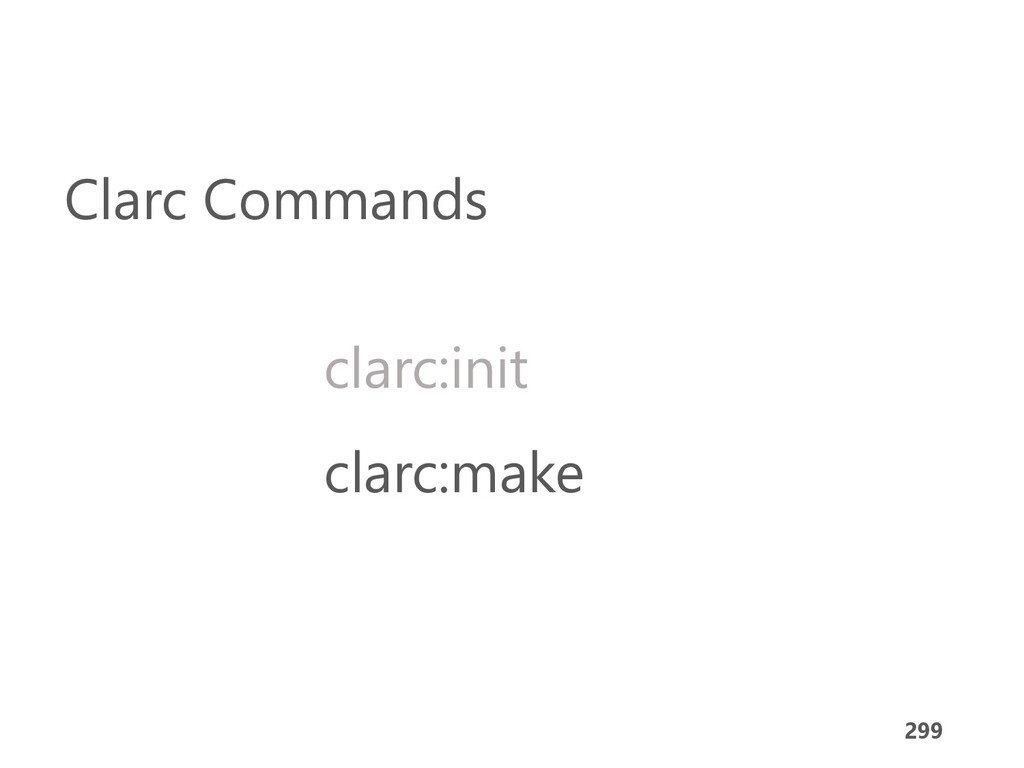299 clarc:make clarc:init Clarc Commands