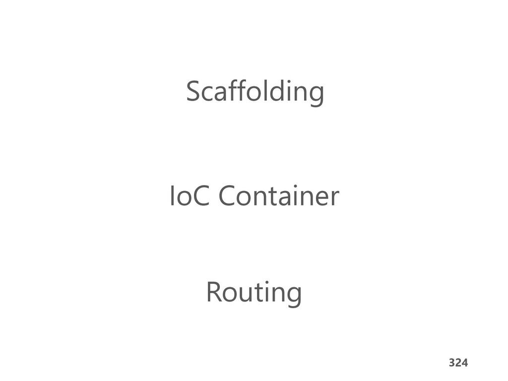 324 Scaffolding IoC Container Routing