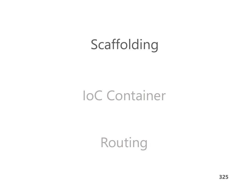 325 Scaffolding IoC Container Routing