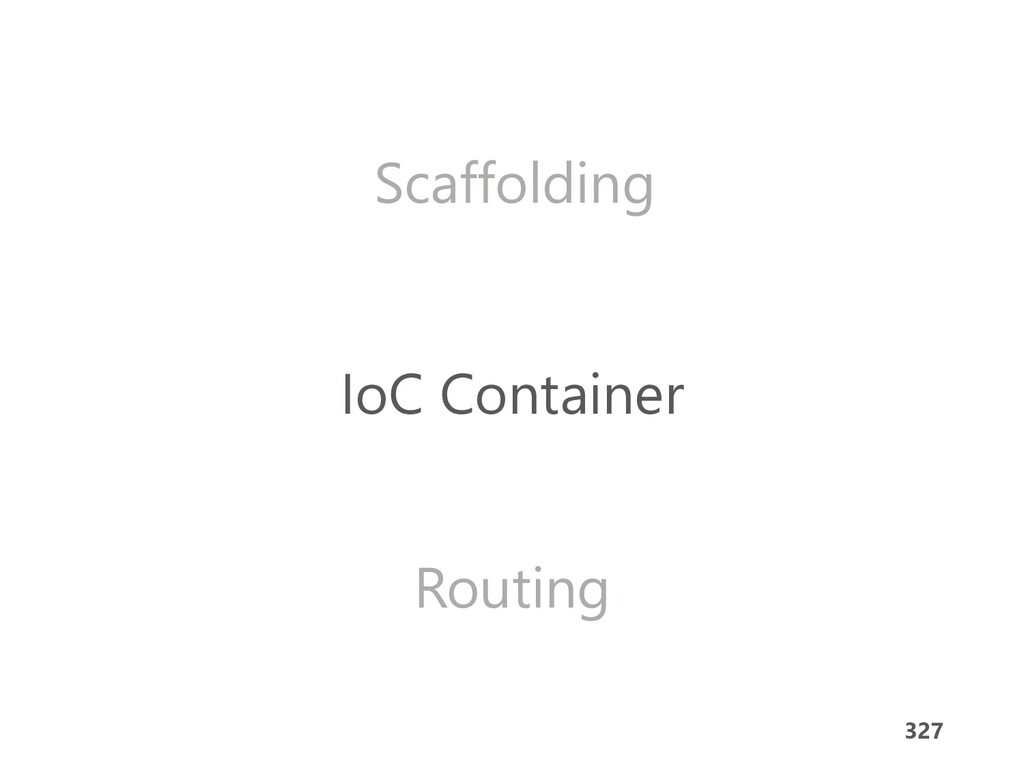 327 Scaffolding IoC Container Routing