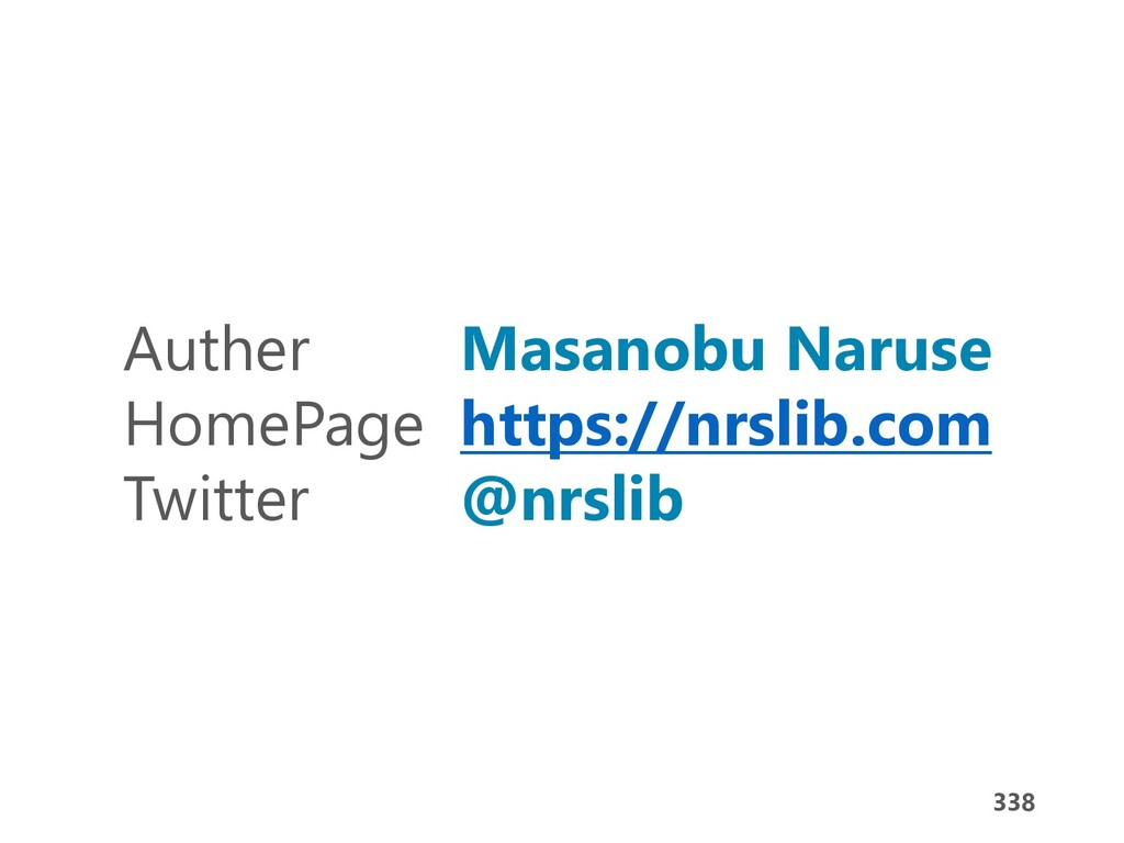 338 Auther Masanobu Naruse HomePage https://nrs...